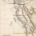 Map Of Aegyptus Antiqua by Sydney Hall