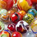 Marbles Close Up by Garry Gay