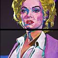 Marilyn Monroe Dyptich by David Lloyd Glover