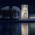 Martin Luther King Jr Memorial Overlooking The Tidal Basin - Washington Dc by Brendan Reals