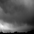 May Showers 3 In Bw - Lightning Thunderstorm 5-10-2011 Boulder C by James BO  Insogna