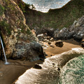 Mcway Falls Hwy 1 California by Connie Cooper-Edwards