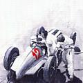 Mercedes Benz W125 Rudolf Caracciola The German Grand Prix Nurburgring 1937  by Yuriy  Shevchuk
