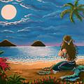 Mermaid Making Leis by Gale Taylor