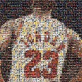 Michael Jordan Card Mosaic 2 by Paul Van Scott