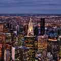 Midtown Skyline At Dusk by Randy Aveille