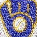Milwaukee Brewers Mosaic by Paul Van Scott