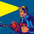 Miner With Jack Drill by Aloysius Patrimonio