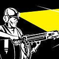 Miner With Jack Leg Drill by Aloysius Patrimonio