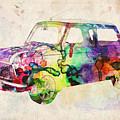 Mini Cooper Urban Art by Michael Tompsett