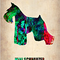 Miniature Schnauzer Poster 2 by Naxart Studio