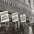 Ministers Picket F.w. Woolworth Store by Everett