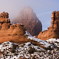 Mist Rising In Arches National Park by Utah Images