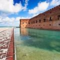 Moat And Walls Of Fort Jefferson by George Oze