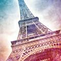 Modern-art Eiffel Tower 21 by Melanie Viola