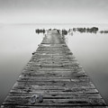 Mono Jetty With Sandals by Billy Currie Photography