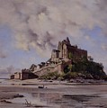 Mont Saint Michel by Emmanuel Lansyer