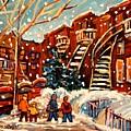 Montreal Street In Winter by Carole Spandau