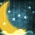 Moon And Stars by Setsiri Silapasuwanchai