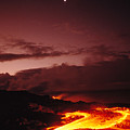 Moon Over Lava At Dawn by Peter French - Printscapes