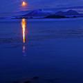 Moon Rise Over Mt. Edgecumbe by Mike  Dawson