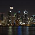 Moonrise Over San Diego by Sandra Bronstein