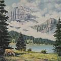 Morning At The Glacier by Wanda Dansereau