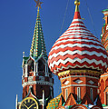 Moscow, Spasskaya Tower And St. Basil Cathedral by Vladimir Zakharov