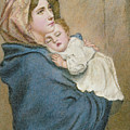 Mother And Child by English School