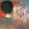 Mother Combing Sara's Hair  by Mary Stevenson Cassatt