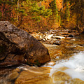 Mountain Stream In Autumn by Utah Images