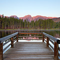 Mountains Behind Sprague Lake by Lightvision, LLC