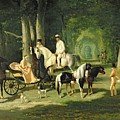Mr And Mrs A Mosselman And Their Two Daughters by Alfred Dedreux