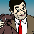 Mr Bean And Teddy by Jera Sky