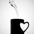 Mug Of Coffee With Handle Of Heart Shape by Saulgranda