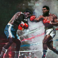 Muhammad Ali And Joe Frazier by Ylli Haruni