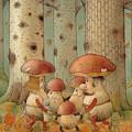 Mushrooms by Kestutis Kasparavicius