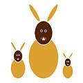 Mustard Bunnies by Frank Tschakert