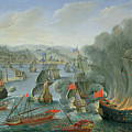 Naval Battle With The Spanish Fleet by Pierre Puget
