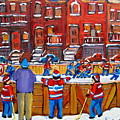 Neighborhood  Hockey Rink by Carole Spandau