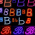 Neon Sign Series Featuring The Letter B  by Michael Ledray
