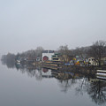 New Hope River View On A Misty Day by Bill Cannon