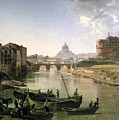 New Rome With The Castel Sant Angelo by Silvestr Fedosievich Shchedrin