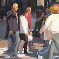New York Crosswalk by Merle Keller