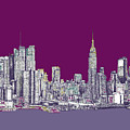 New York In Purple by Lee-Ann Adendorff