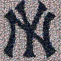 New York Yankees Bottle Cap Mosaic by Paul Van Scott