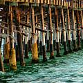 Newport Beach Pier Close Up by Mariola Bitner