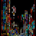 Night On The Town - Digital Art by Carol Groenen