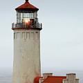 North Head Lighthouse - Ilwaco On Washington's Southwest Coast by Christine Till