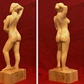 Nude Female Impressionistic Wood Sculpture Donna by Mike Burton